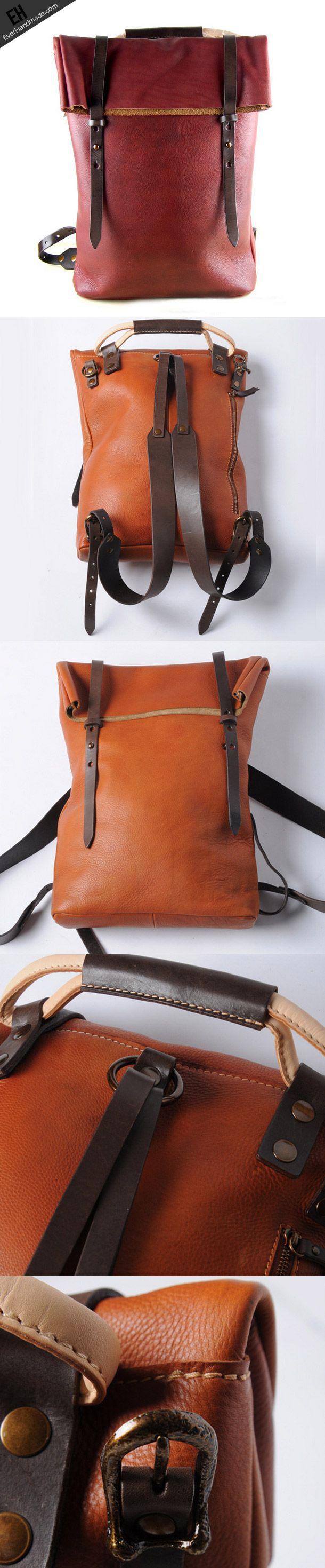 Handmade leather Backpack For men … | Pinteres…