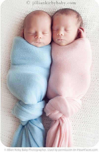 Twins boy girl blue pink reminds me of my brother and i