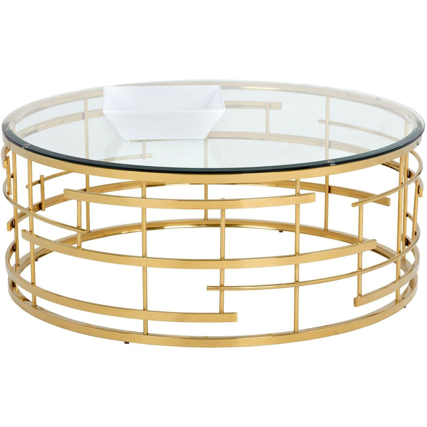 Descriptionavailable Online Only This Truly Vibrant Coffee Table From Our Ikon Collection Pays Ode Gold Coffee Table Glass Top Coffee Table Round Coffee Table [ 1400 x 1400 Pixel ]