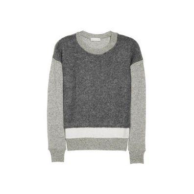 CLU Silk-Trimmed Sweater
