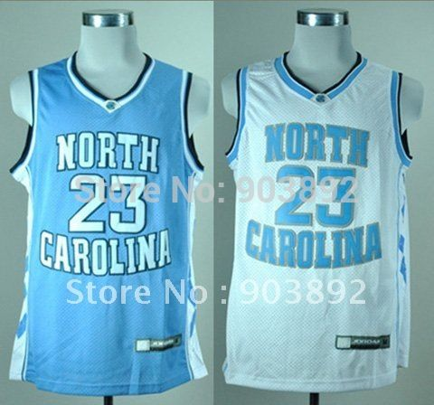 54b0ac127471 North Carolina Tar Heels  23 Michael Jordan white  blue ncaa basketball  jerseys…