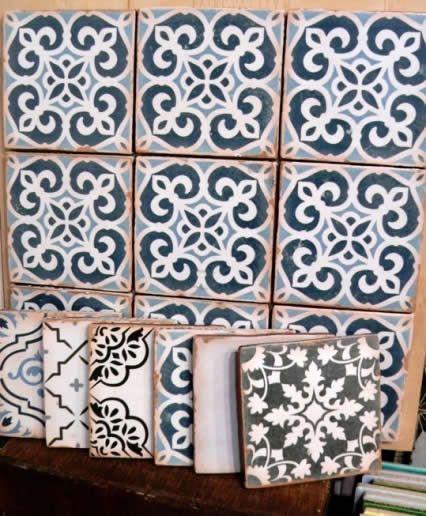Kitchen splash back or bathroom feature wall tiles. Spanish Tile ...