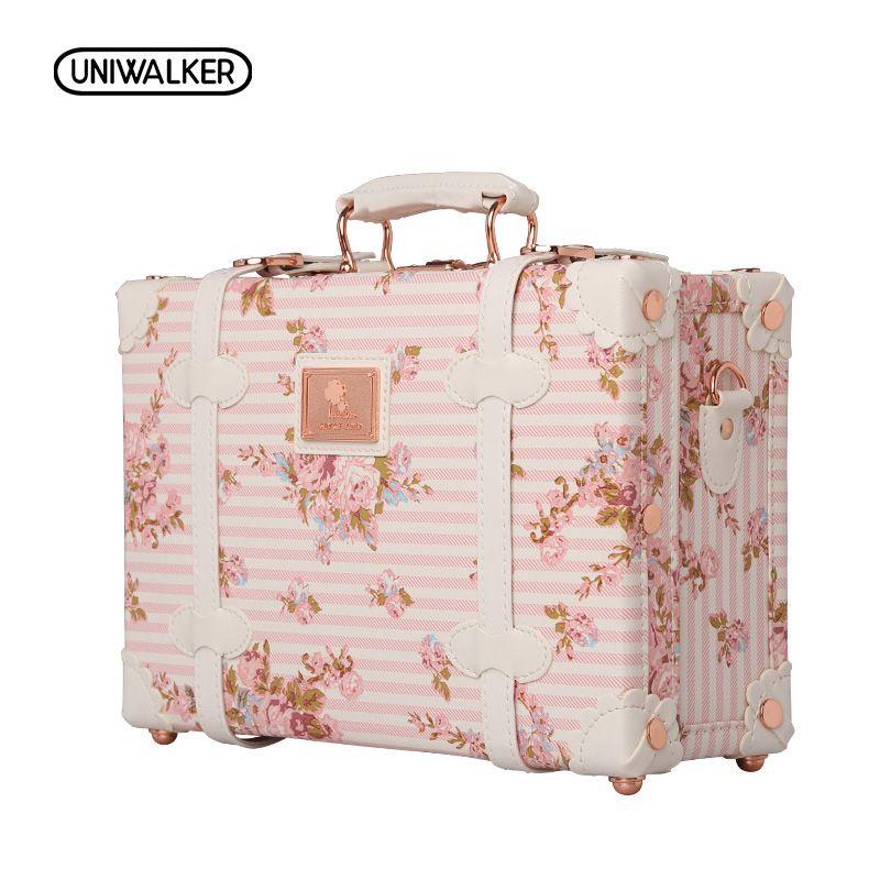 """Decorative Luggage Box 12 """"13"""" Pouces Étanche Vintage Tronc Boîte Cas Sac Bagages Petite"""