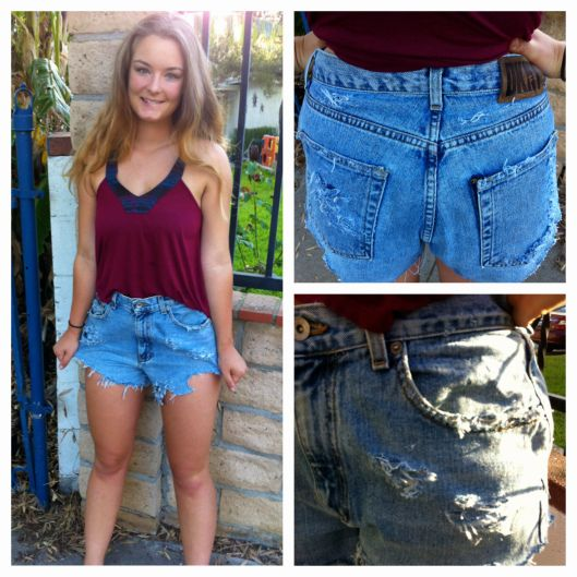 Diy High Waisted Denim Shorts Step By Step Instructions With Pictures High Waisted Denim Denim Shorts Denim High Wasted Shorts