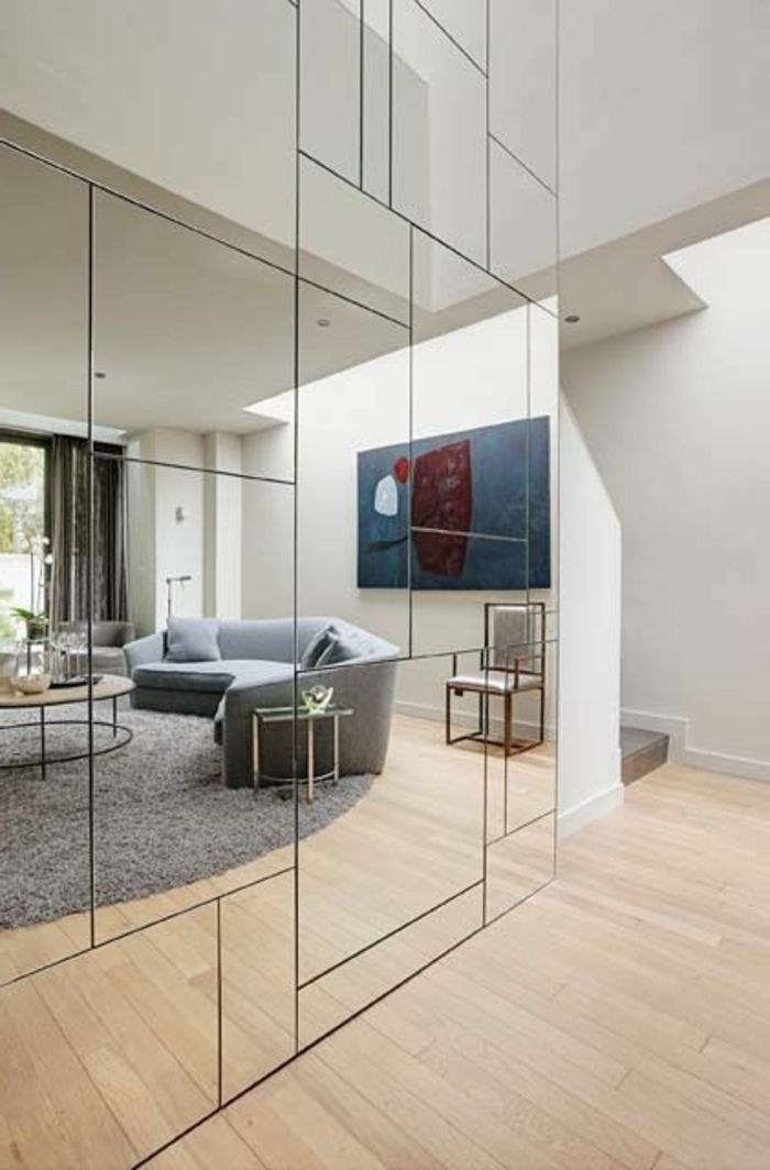 Panel Mirrored Wall Wondeful Walls In 2018 Pinterest Miroir