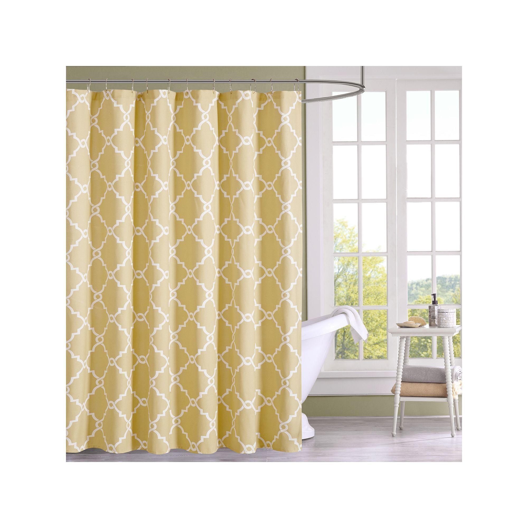 Madison Park Westmont Shower Curtain Yellow