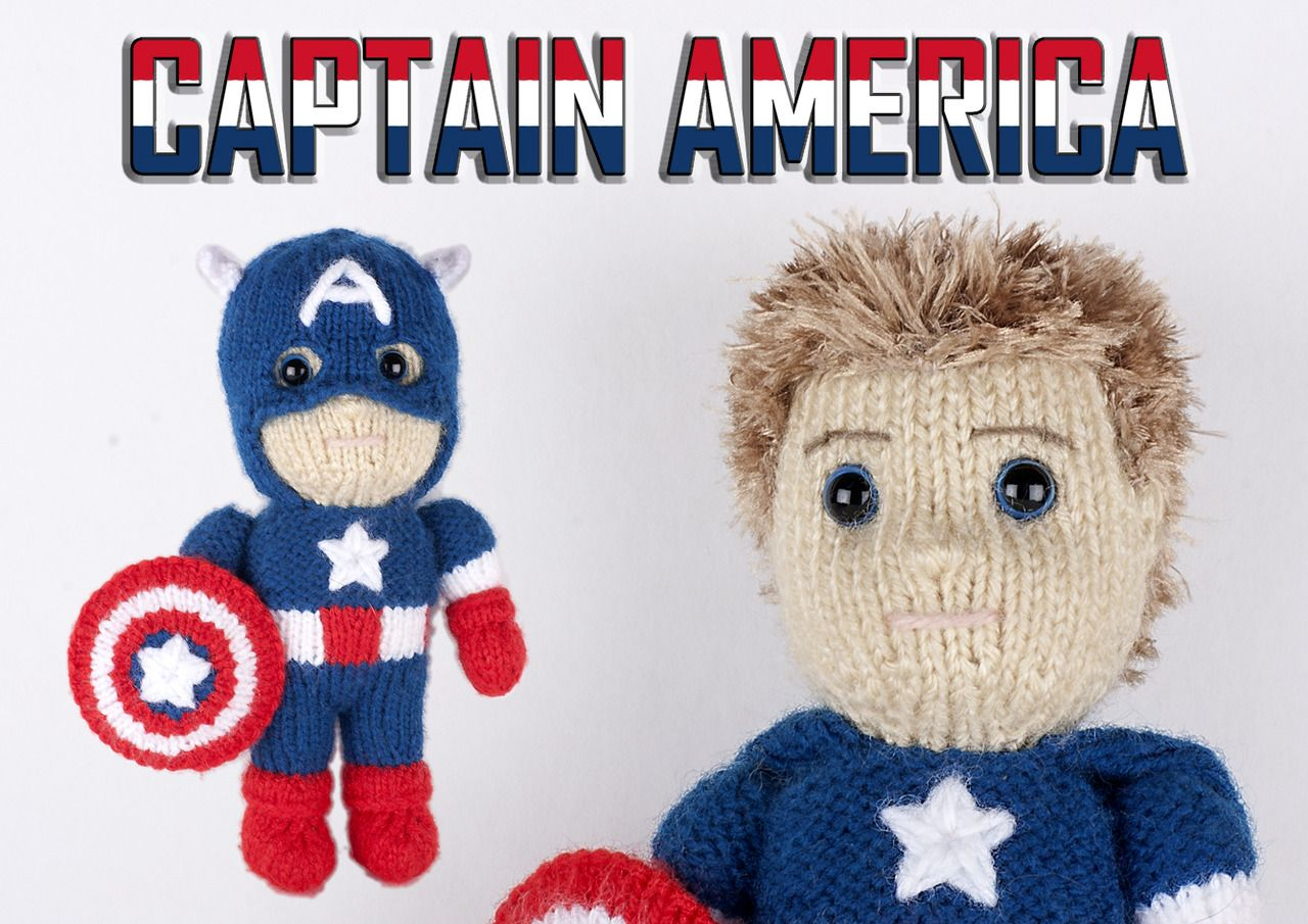 thaliamousa: kittyvonditty: Knitted Captain America by Kat Bifield ...
