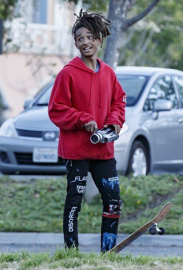 jaden smith skates and shoots video wearing marlboro