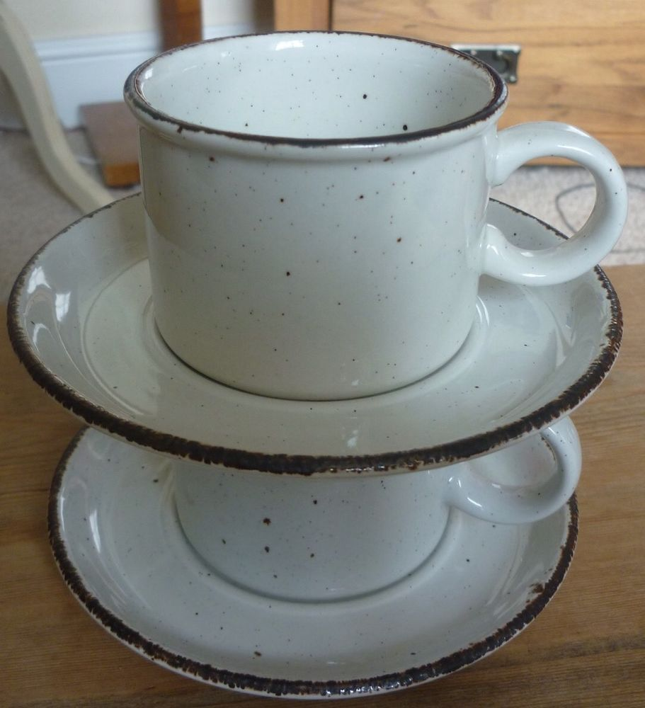 2 X Cups & Saucers- Midwinter Stonehenge \'creation\' in Pottery ...