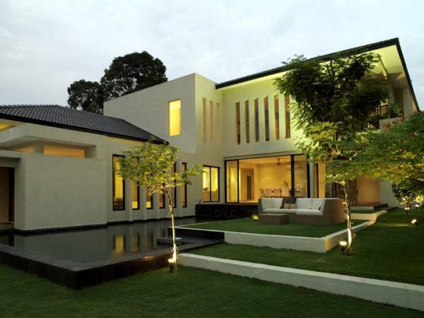 Lotus House Bungalow Garden Landscape Design Modern