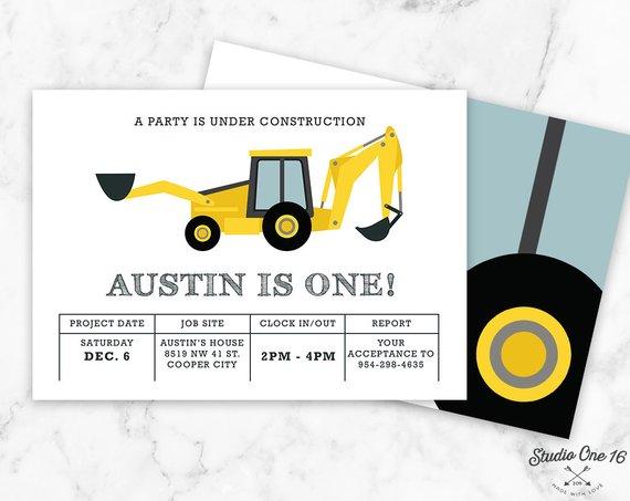 construction birthday invitation construction invitation dump
