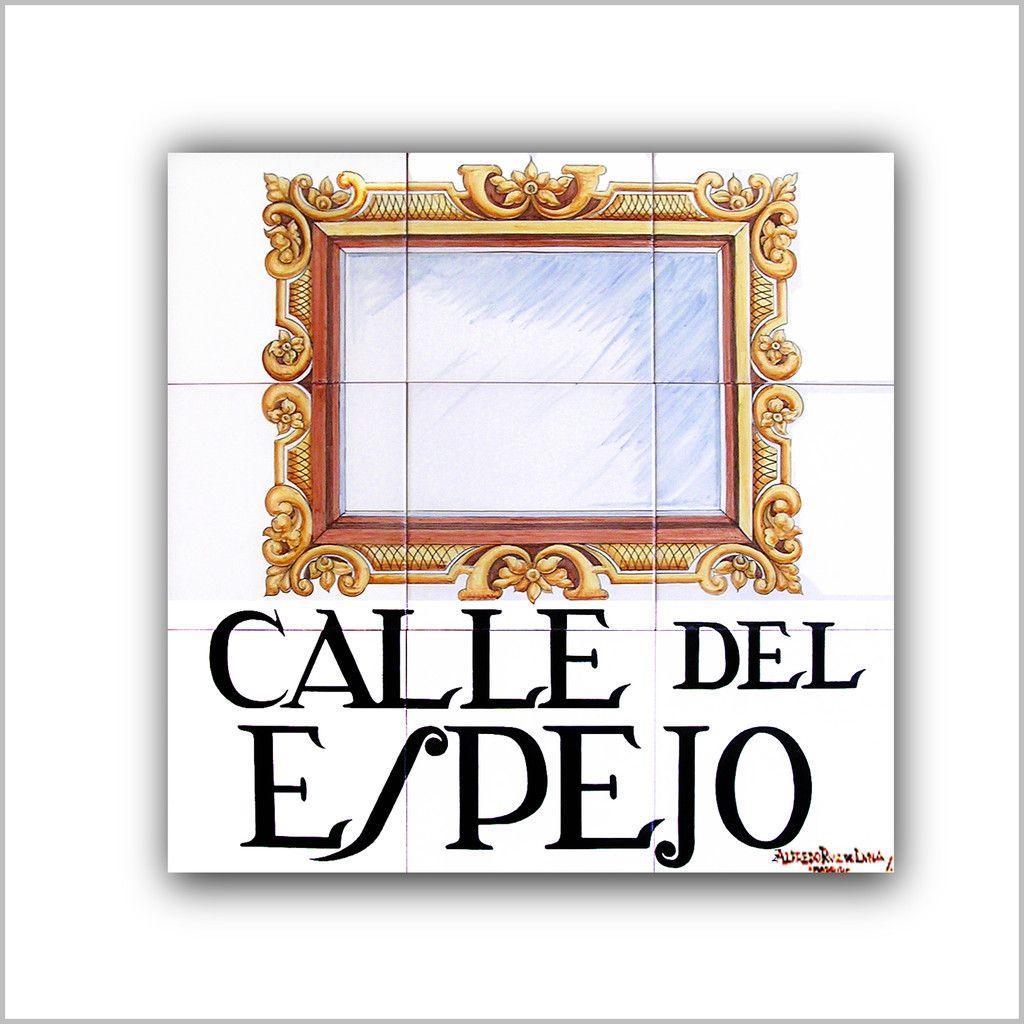 Resultado de imagen de azulejos calles de madrid espejo
