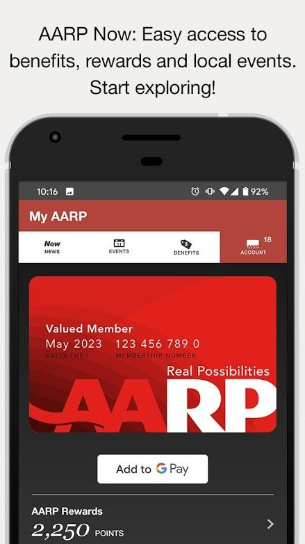 AARP Now App News, Events & Membership Benefits Apps on