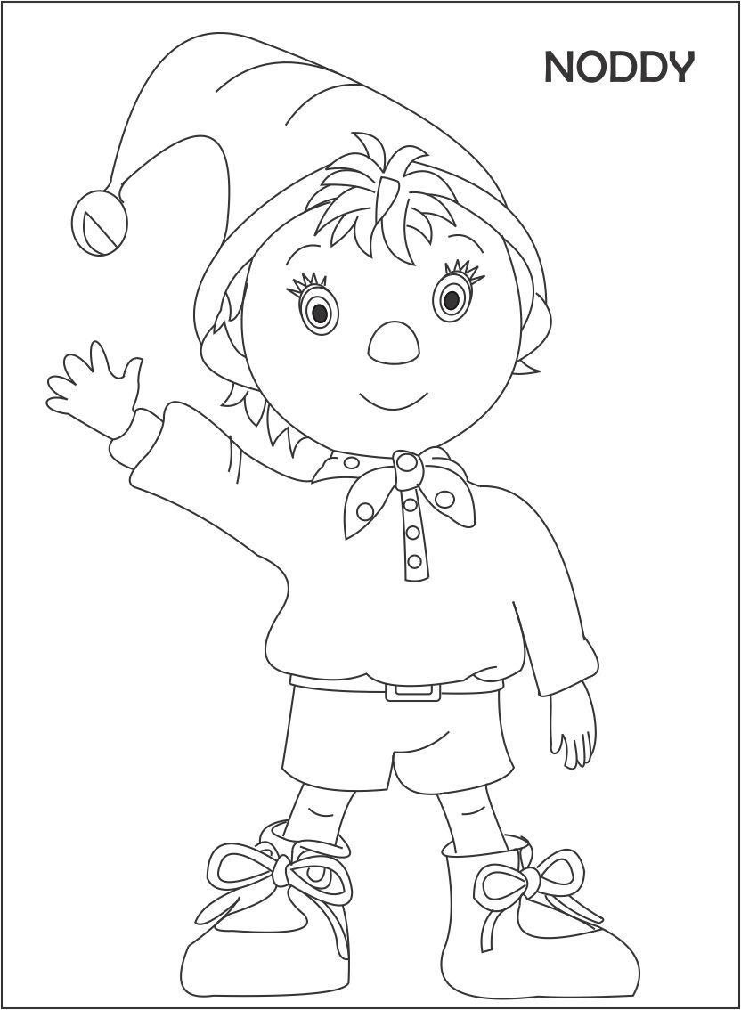 Noddy Coloring Pages Games Cartoon Coloring Pages Coloring