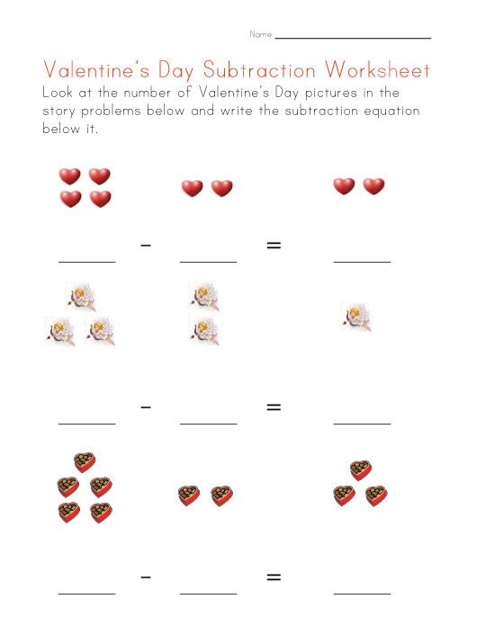 valentine\'s worksheets for kids | View and Print Your Valentine\'s ...