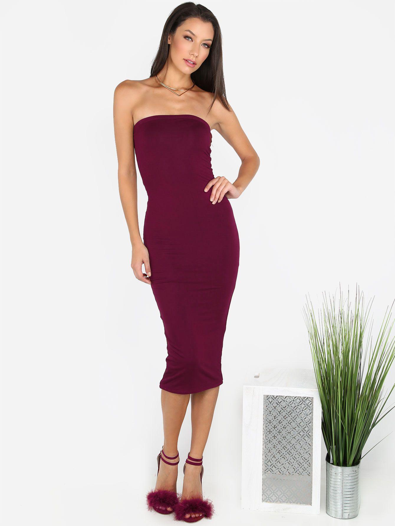 63eb1979c7 Puff Sleeve Belt Chiffon Slim Dress | MakeMeChic.COM | Fashionesta ...
