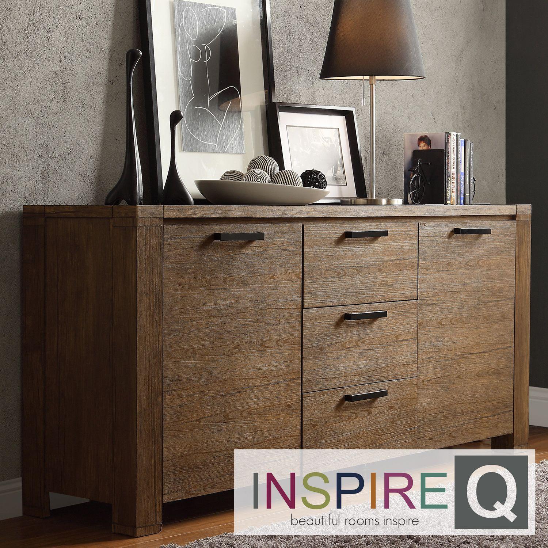 Catalpa Walnut Finish Weathered Sideboard by iNSPIRE Q Classic by iNSPIRE Q.  Walnut FinishRustic DesignModern ...