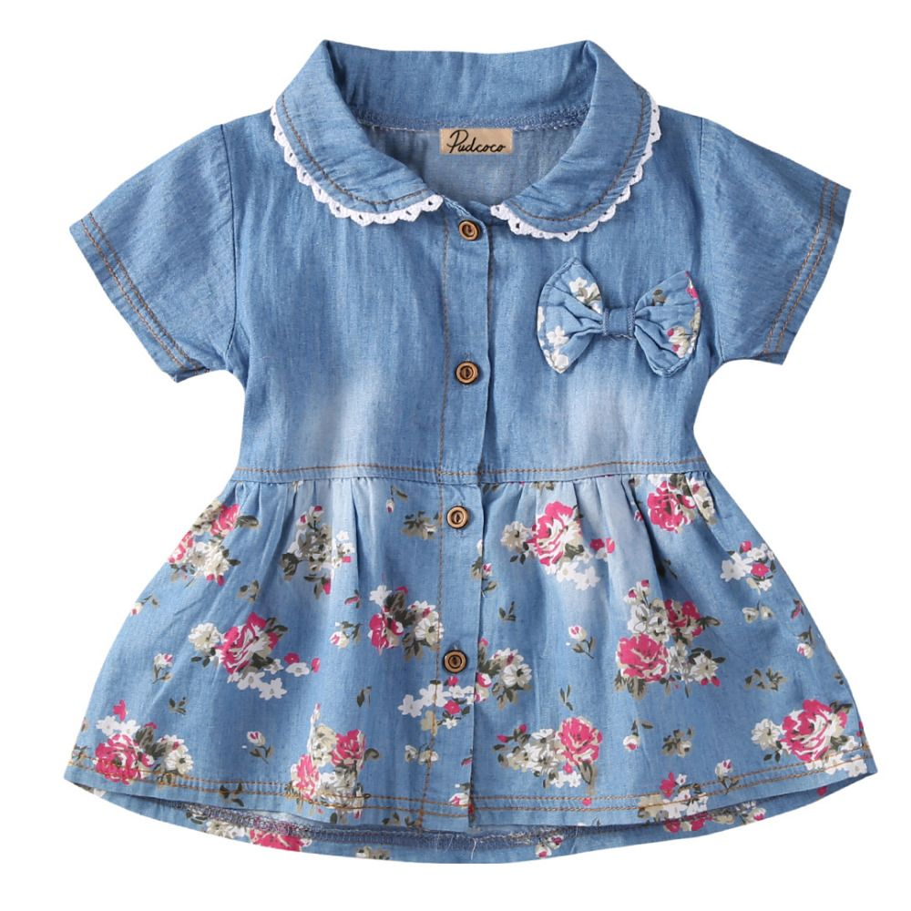 Click to buy ucuc new flower girl summer princess kid baby party