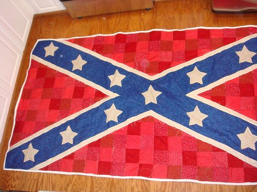 Confederate Flag Quilt Red White And Blue Pinterest Flag Quilt