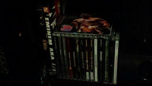All my cds 8 mile Eminem AKA Slim shady lp MMlp (clean) MMlp (dirty