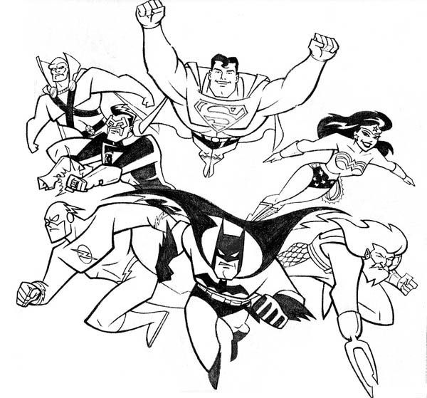 Justice league coloring pages for kids printable www for Justice league printable coloring pages