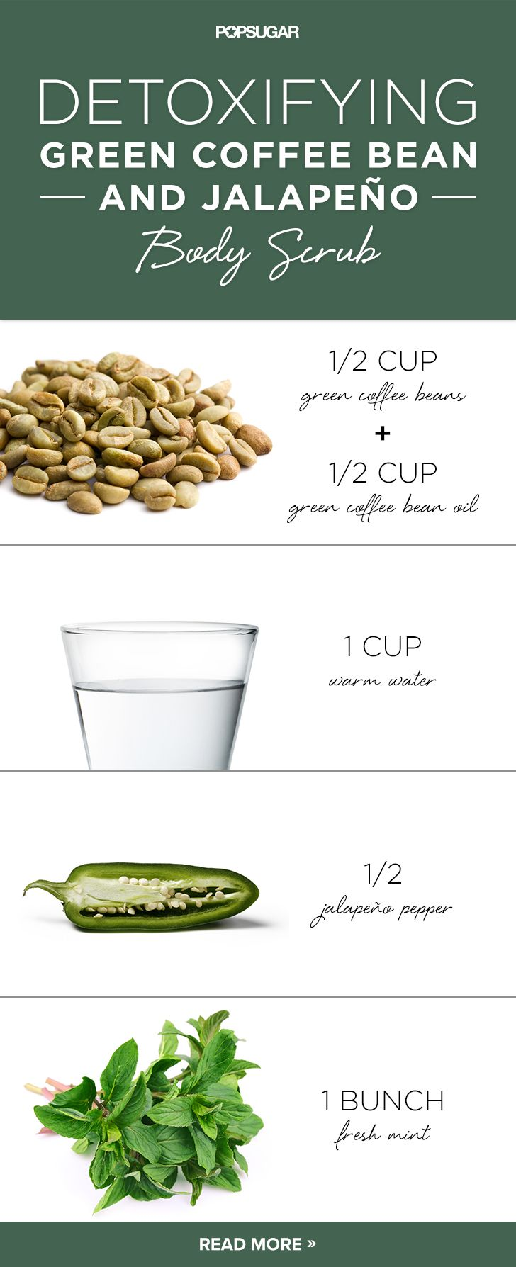 Detox Your Skin With This Green Coffee Bean And Jalapeno Body