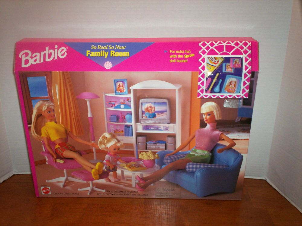 BARBIE DOLL FAMILY ROOM FURNITURE SO REAL SO NOW NEW IN BOX. | eBay!