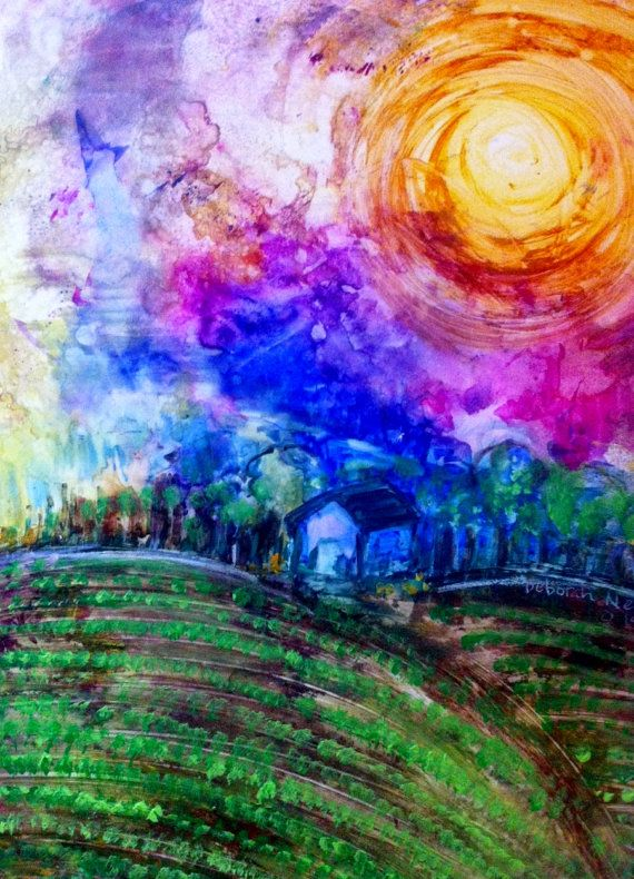 Colorful Contemporary Acrylic Landscape By 400 x 300