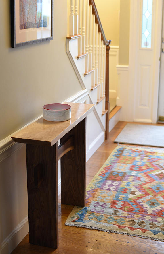 minimalist console table live edge stretcher modern on small entryway console table decor ideas make a statement with your home s entryway id=88691