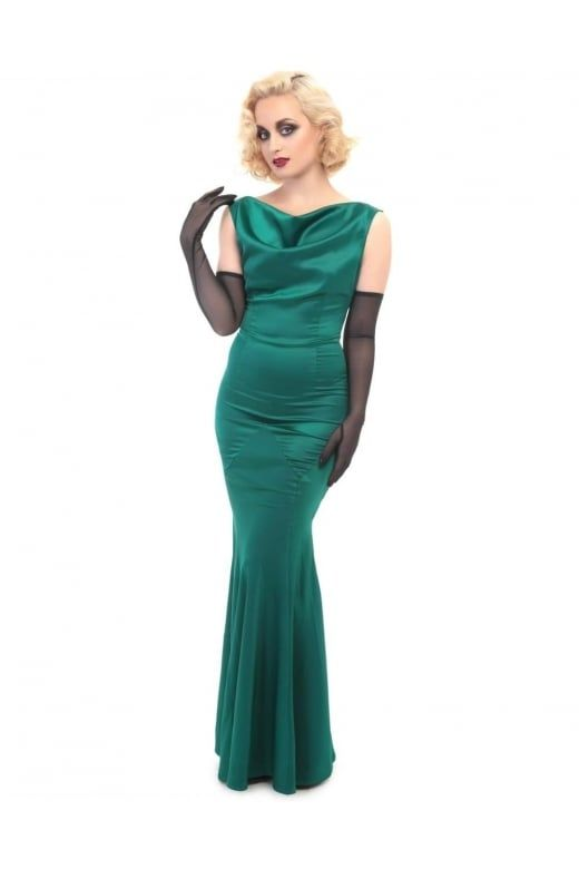 Collectif Vintage Ingrid Fishtail Dress - Collectif Vintage from ...