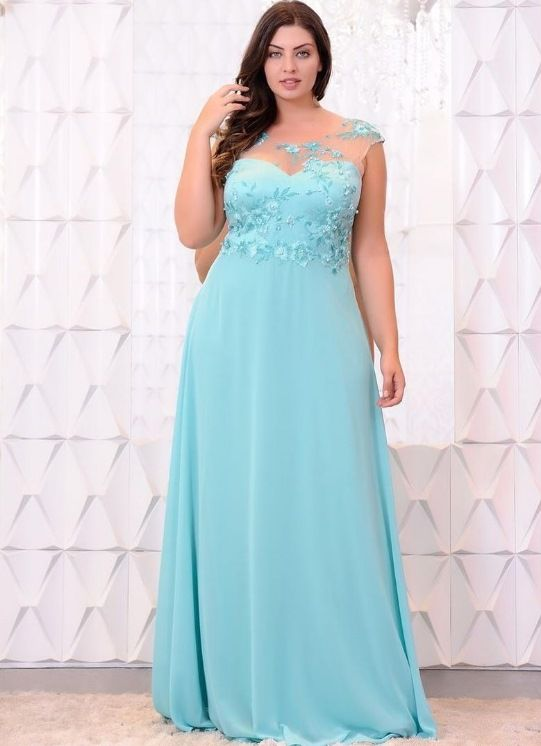 Make para vestido azul serenity
