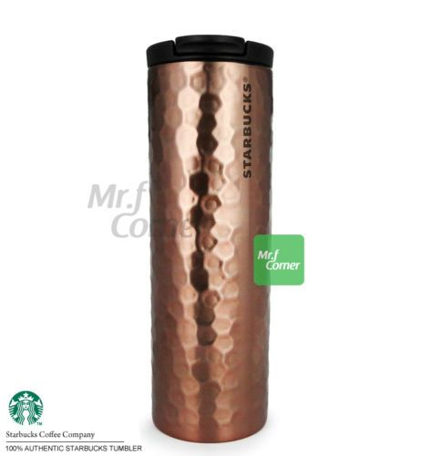 Ss051 16oz starbucks gold rose hammered stainless steel for Big fish casino gold bars