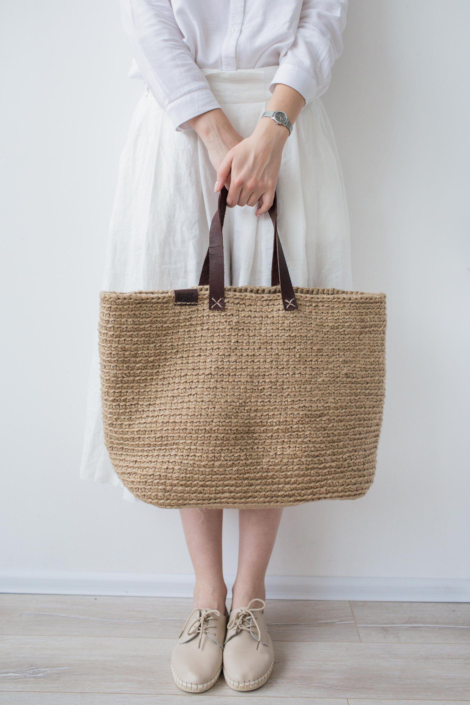 Large Beach Bag, Crochet Shopping Bag by POLE Homeware