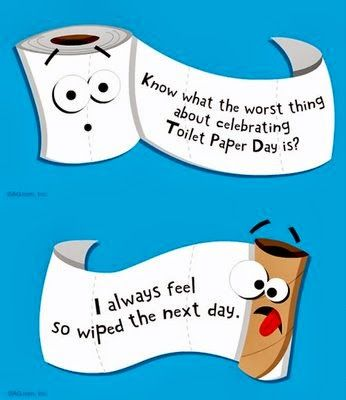 Happy National Toilet Paper Day!   Bathroom Humor   Pinterest ...