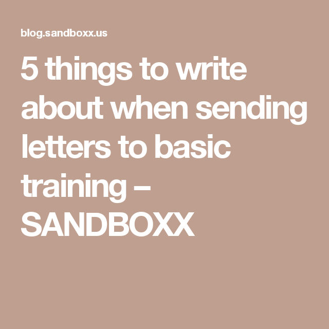 What To Write When Sending Letters To Basic Training  Marines