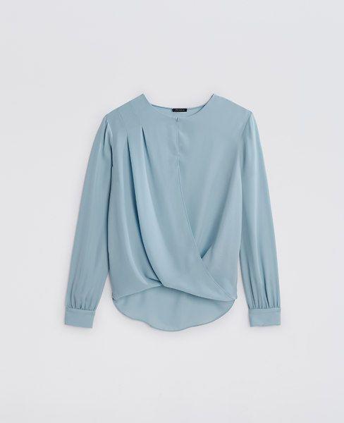 ann taylor georgette wrap blouse