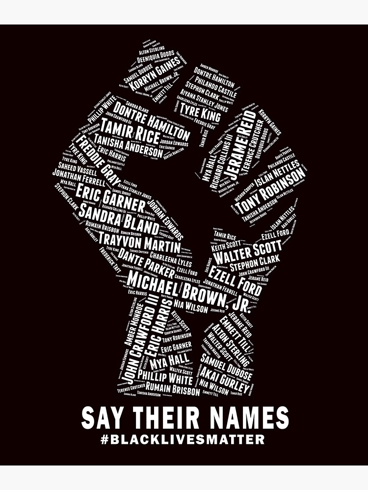 'Black Lives Matter Say Their Names' Sticker by