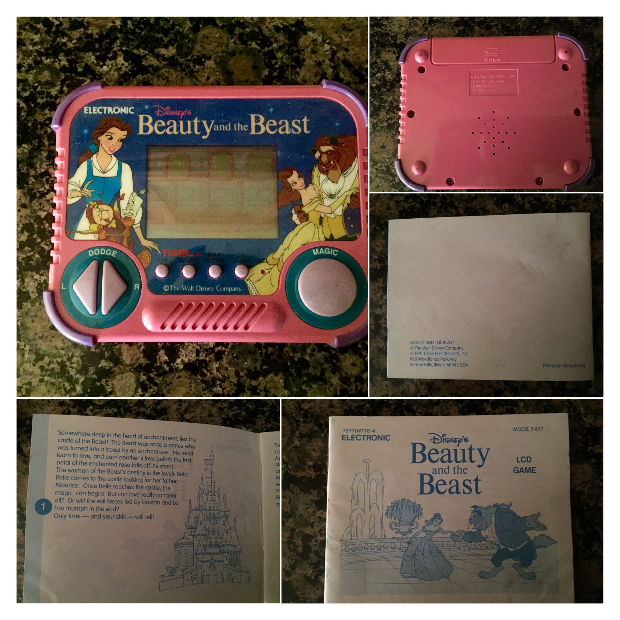 Beauty and the Beast 1991 hand held video game - Disney