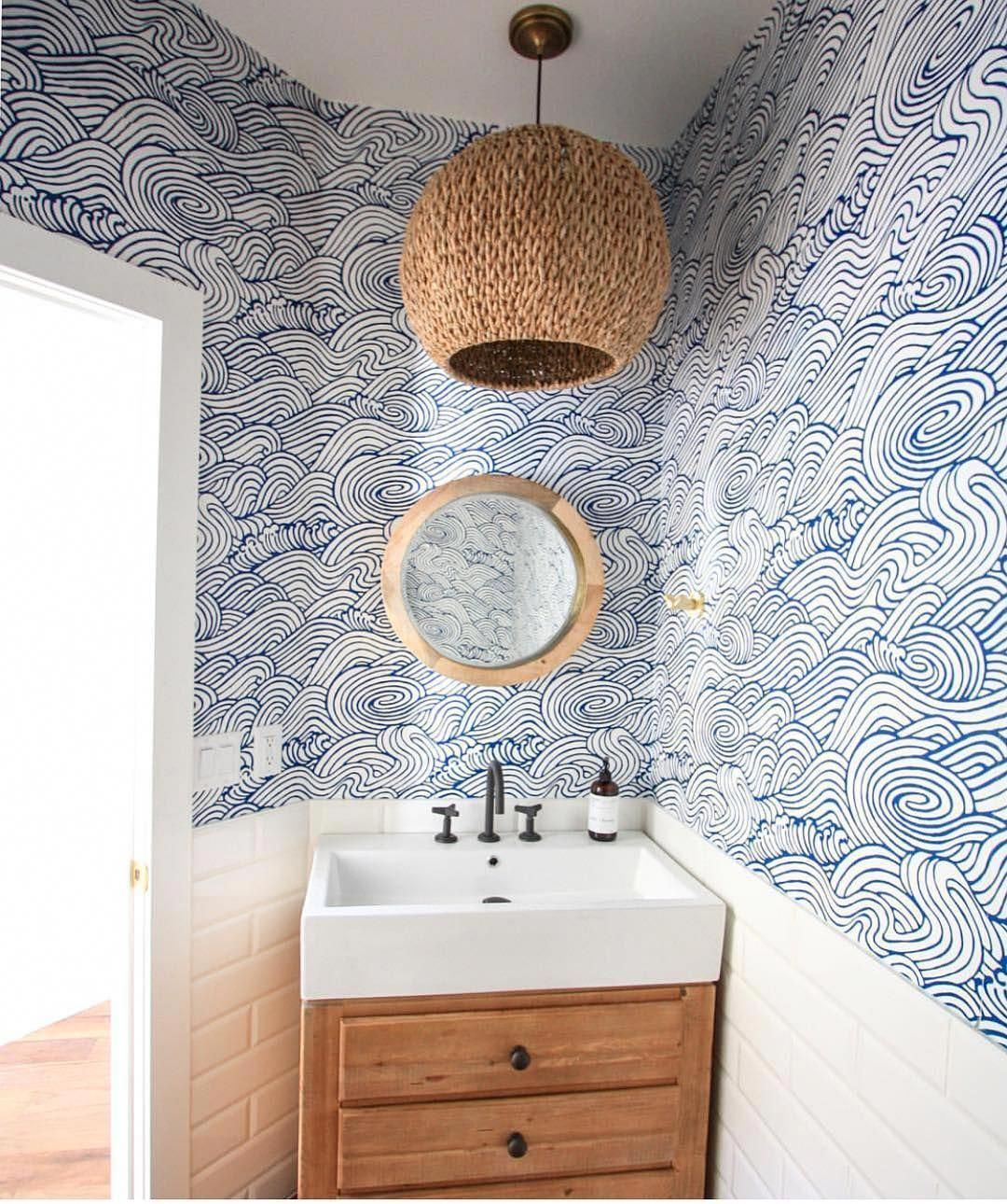 I M Just Certainly Getting Excited About Trying Out Doing This Toilets For Small Bathrooms In 2020 Powder Room Wallpaper Coastal Powder Room Powder Room Small
