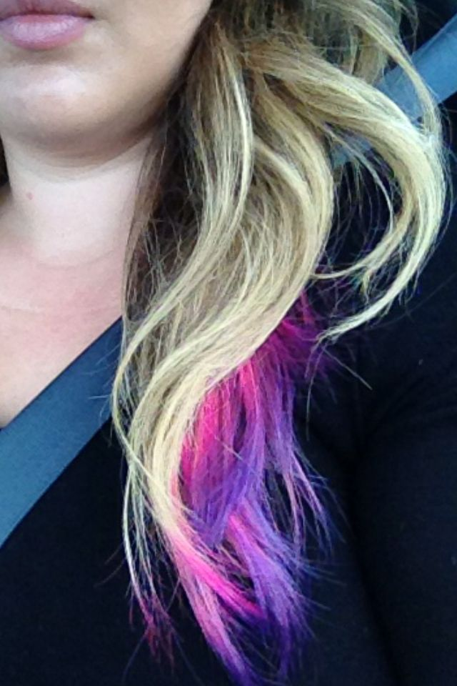 I Love My Pink And Purple Tipped Hair Hair Beauty New Hair Pink Hair