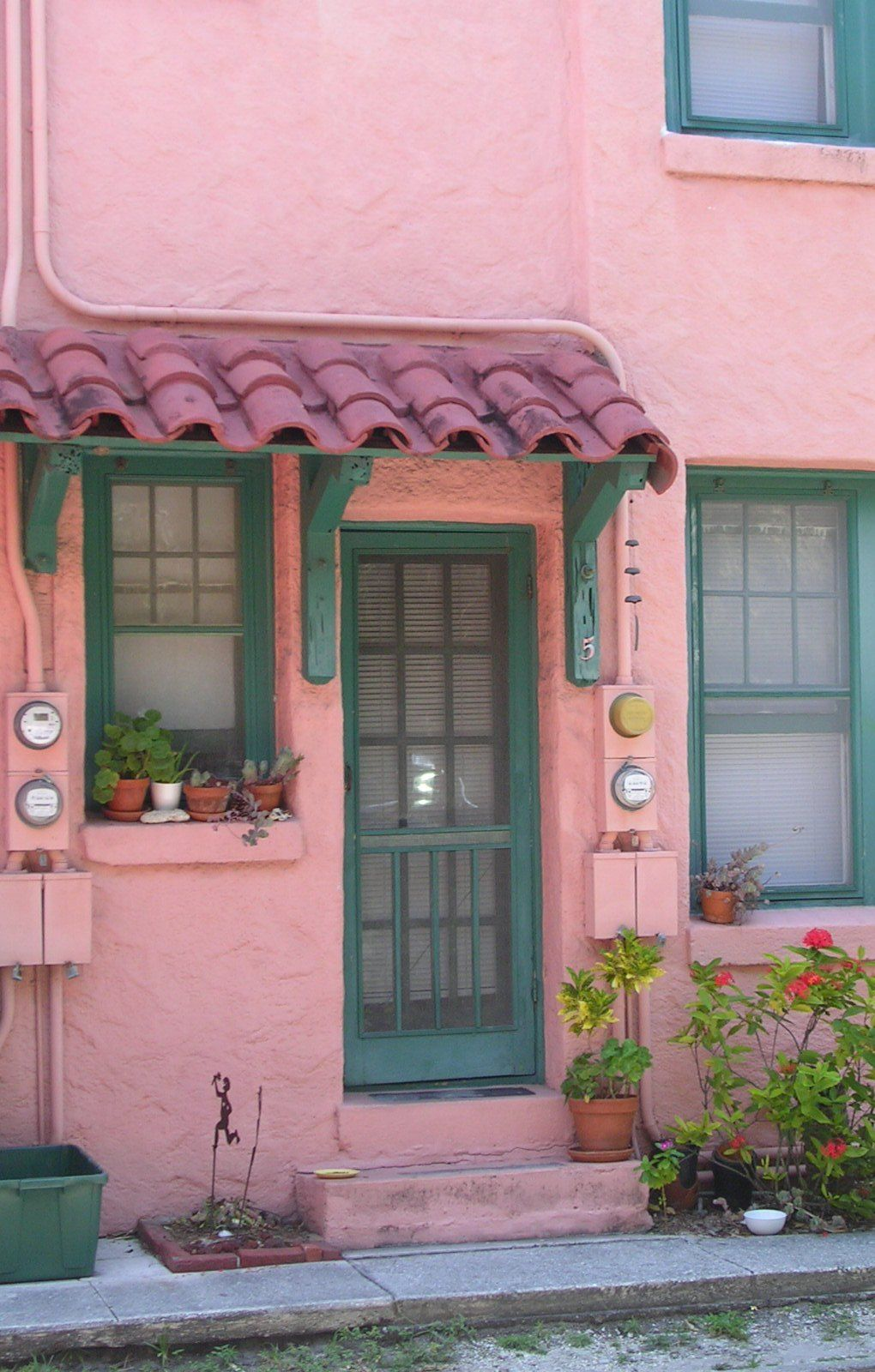 Pink Stucco Entrance Spanish Revival Fl The Perfect