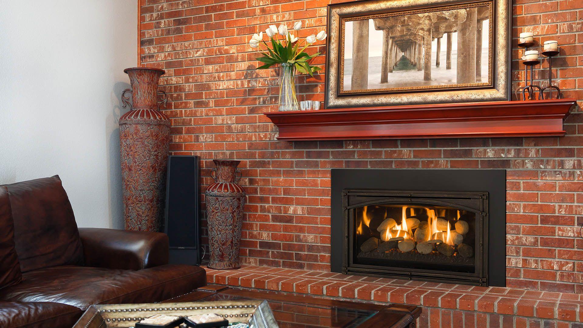 Chaska 29 Rock Set Gas Insert Modern Gas Fireplace Inserts