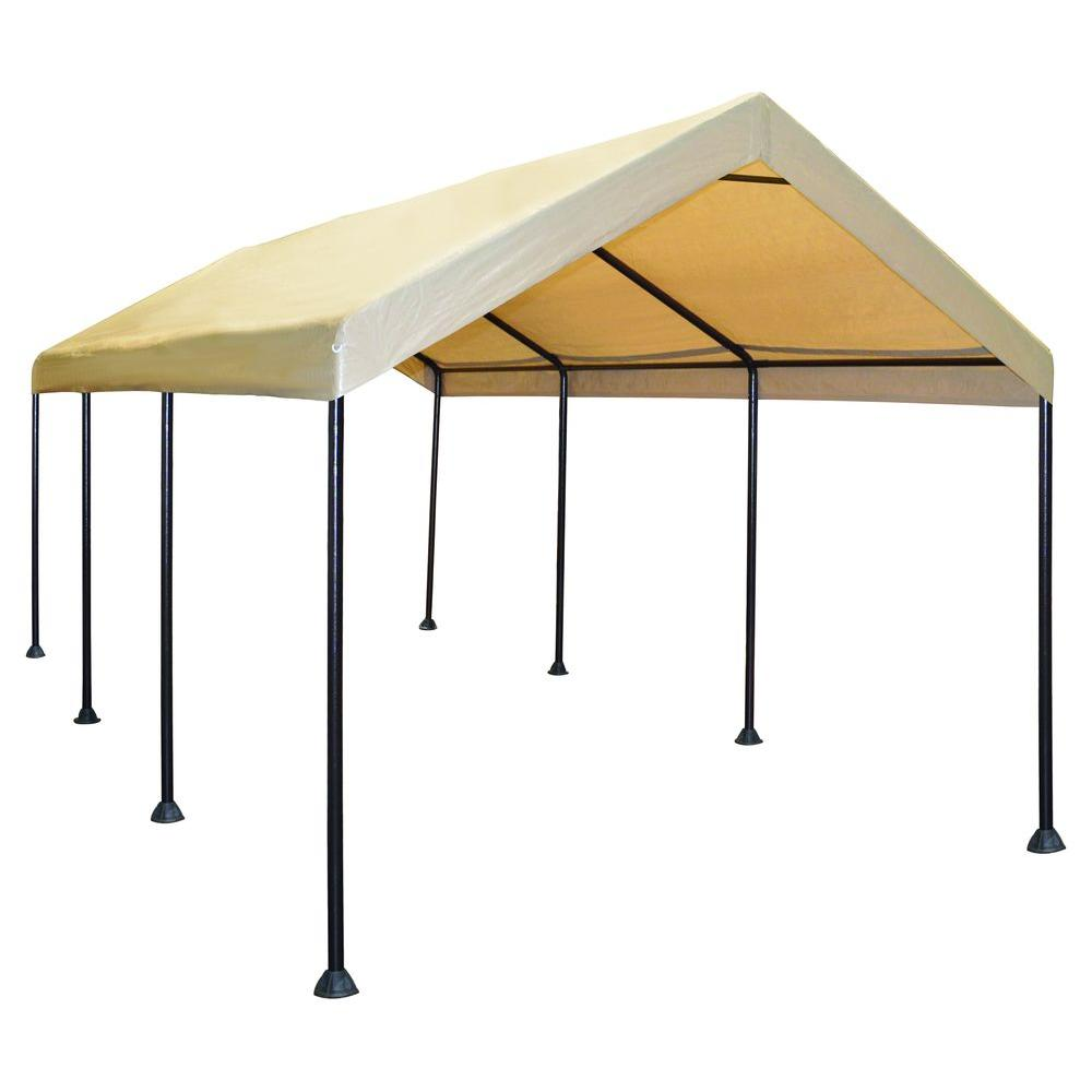 Canopy Carport Tent Garage Portable Outdoor Shelter Auto Caravan Sports 10 Ft X 20 Ft Mega Domain Carport Carport Canopy Kayak Storage