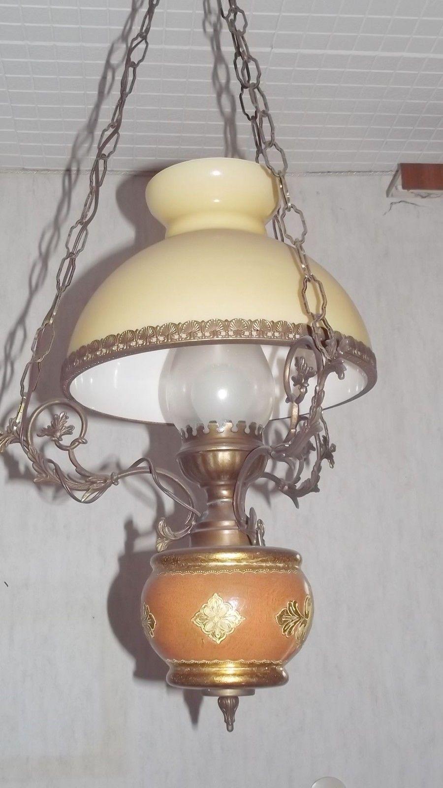 Messing Deckenlampe Kronleuchter Antik Ebay Oude Lampen Lampen
