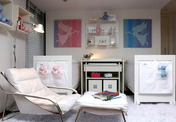 modern nursery for baby boy and girl