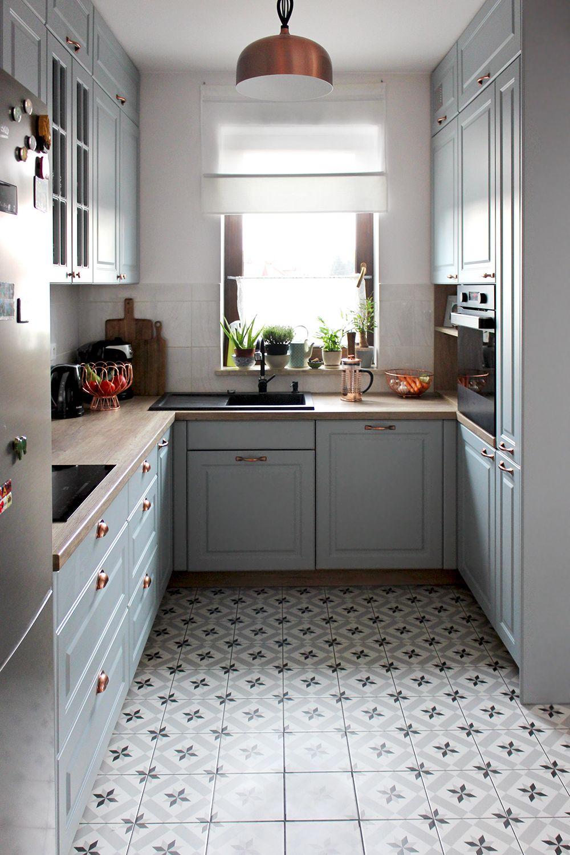 kuchnia, grey kitchen / szara / mała kuchnia Lili Natura – Kreatywnie i inspirująco z nutą natury #smallkitchendecor