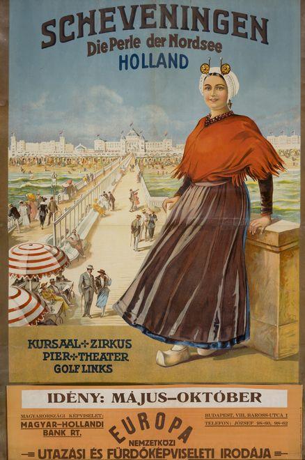 Vintage Holland Scheveningen Tourism Poster Print A3//A4