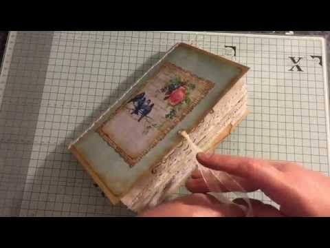 Enchanted Rose Journal Guest Dt For Ephemera 39 S Vintage Garden Youtube Handmade Book Vintage Journal Altered Book Art