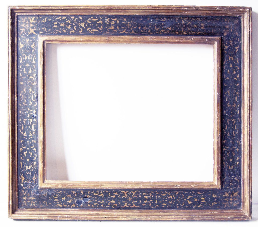 Italian 18th c hand carved gilded and polychromed cassetta frame italian 18th c hand carved gilded and polychromed cassetta frame with designed gilded panel jeuxipadfo Images