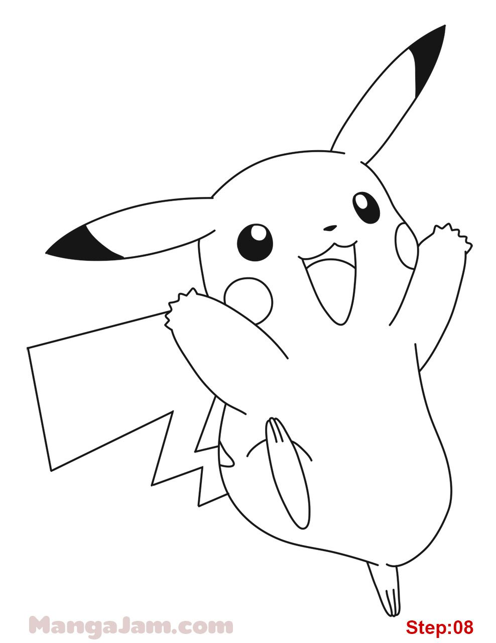Let S Learn How To Draw Pikachu From Pokemon Today Pikachu Is An
